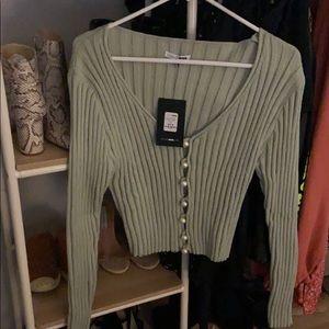 Fashion nova knitted thick cardigan shirt size M